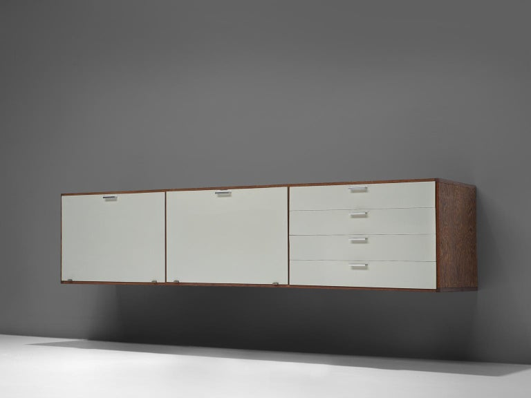 Dutch Cees Braakman for Pastoe Wengé Wooden Sideboard For Sale