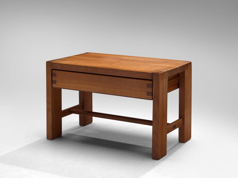 French Pierre Chapo Solid Elm Nightstand For Sale