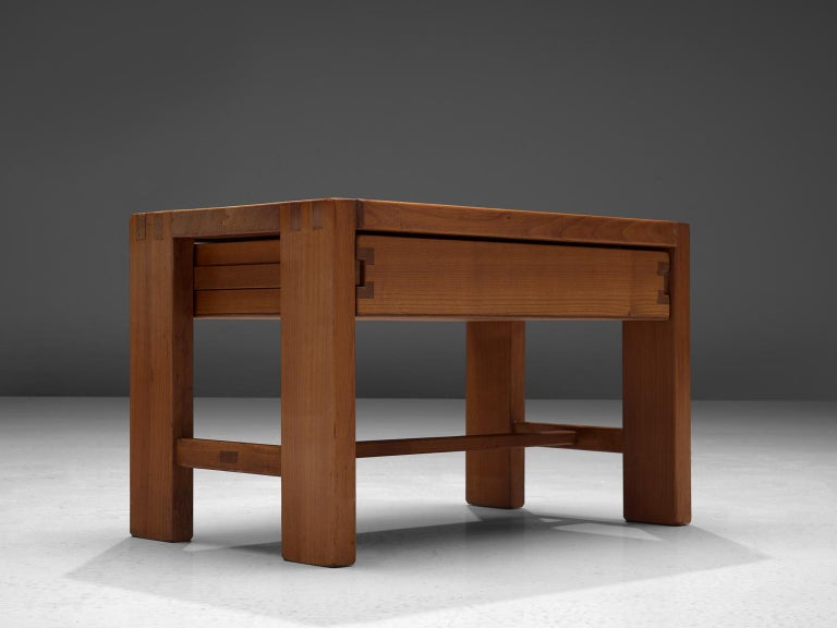 Mid-Century Modern Pierre Chapo Solid Elm Nightstand For Sale