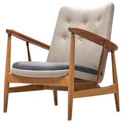 Finn Juhl Reupholstered SW86 Easy Chair in Oak and Teak