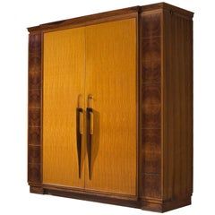 Italian Wardrobe with Hand-Carved Detailing, circa 1951