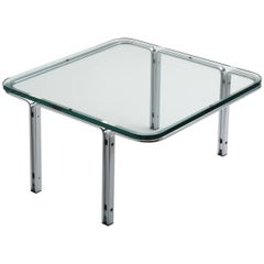 Horst Brüning Chrome and Glass Cocktail Table for Kill International