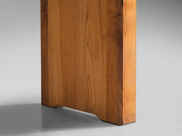 Mid-20th Century Pierre Chapo Patinated Elm Dining Table For Sale
