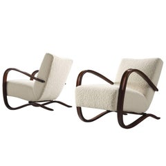 Customized Pierre Frey Halabala Lounge Chair