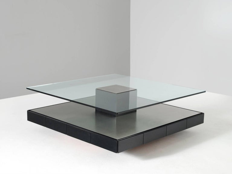 Modern Marco Fantoni Large Coffee Table for Tecno For Sale