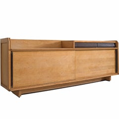 Ceramic and Oak Guillerme and Chambron Credenza
