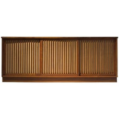 George Nakashima Cabinet with Walnut and Pandanus Cloth