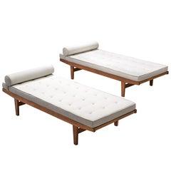 Poul M. Volther Elegant Reupholstered Daybeds
