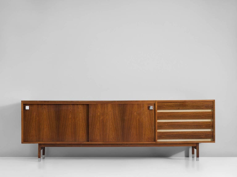 Belgian Large Alfred Hendrickx Sideboard in Rosewood, 1960s For Sale