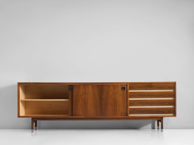 Mid-Century Modern Large Alfred Hendrickx Sideboard in Rosewood, 1960s For Sale