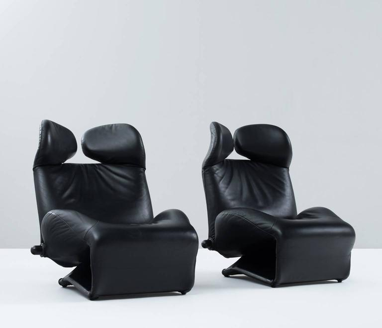 Toshiyuki Kita Wink Lounge Chairs For Cassina For Sale