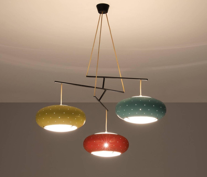 Angelo lelli attributed ceiling light for arredoluce at for Arredo luce