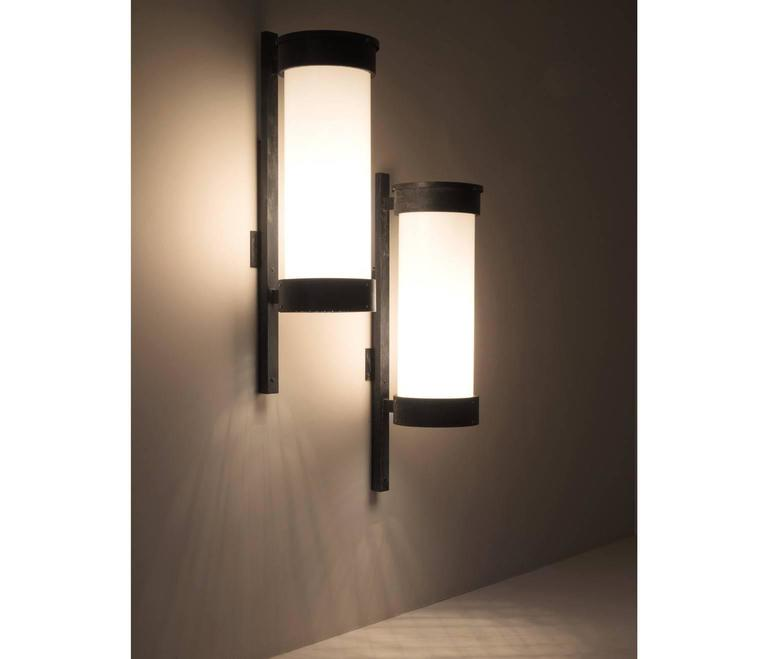 Pair of large wall lights designed by studio bbpr milan 1971 for stunning pair of large wall lights originally designed for the cinema mediolanum milan aloadofball Choice Image