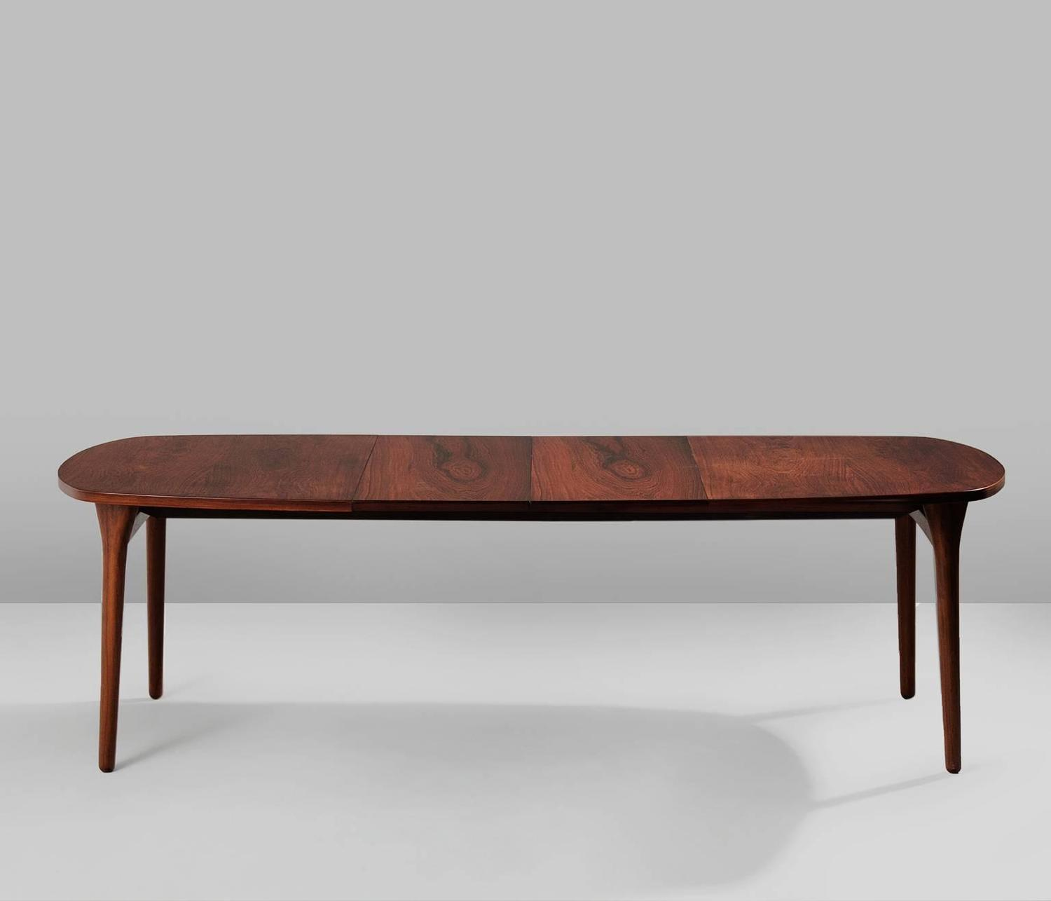 Large Rosewood Oval Dining Table For Sale At 1stdibs