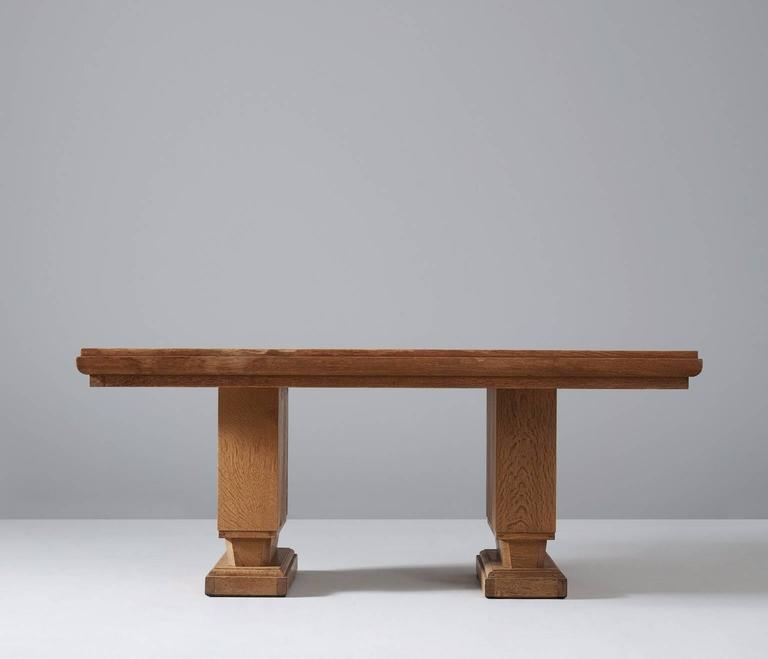 Charles Dudouyt Oak Dining Table at 1stdibs
