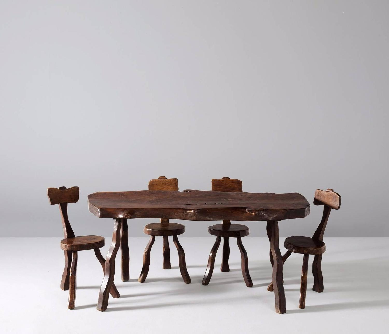 Slab dining table in elm for sale at 1stdibs for Most beautiful dining room tables