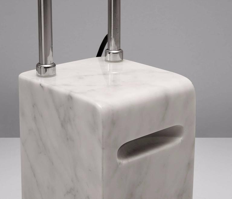 Mid-Century Modern Floorlamp with Marble Base for Skipper Italy For Sale