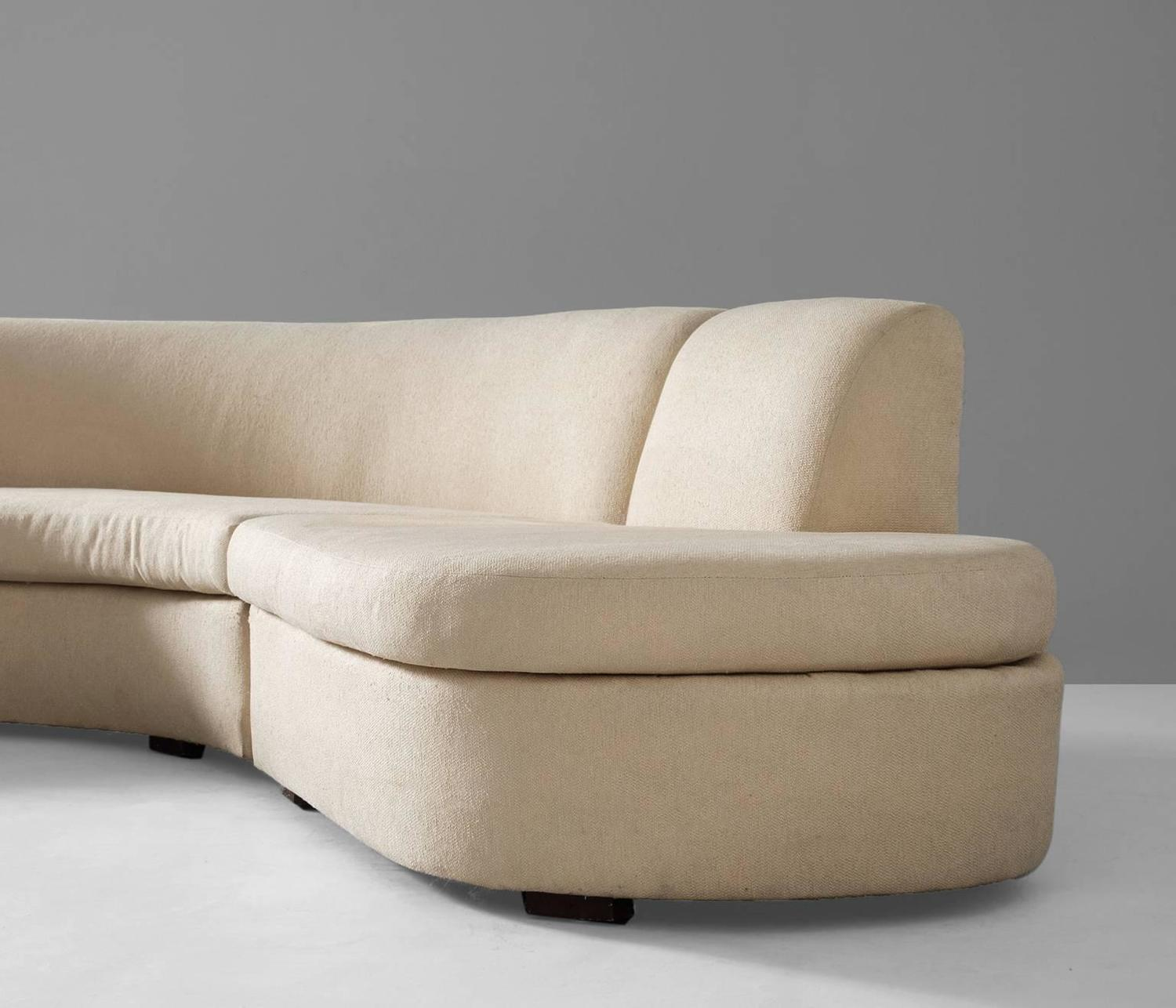 Large Curved Sofa For Sale At 1stdibs