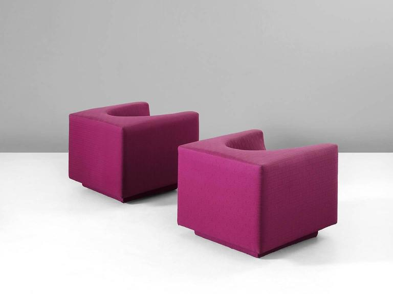 Pair of Cyclamen Cubic Easy Chairs for Saporiti 3