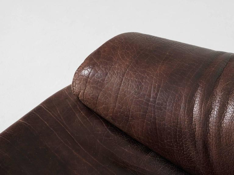 Set of Two De Sede Lounge Chairs in Dark Brown Leather 4