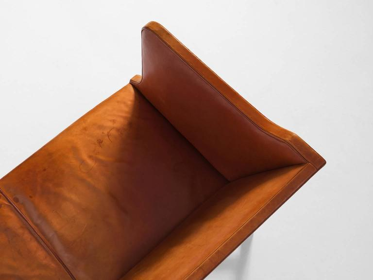 Mid-20th Century Kaare Klint Early Sofa in Cognac Leather for Rud Rasmussen For Sale