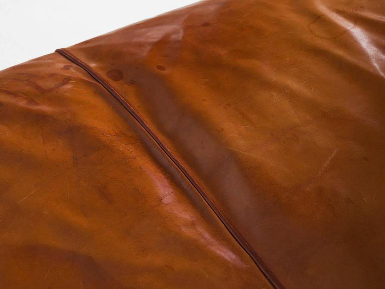 Kaare Klint Early Sofa in Cognac Leather for Rud Rasmussen For Sale 1