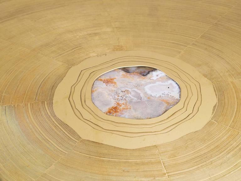 Lova Creation Brass and Gemstone Coffee Table 3