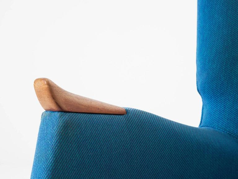 Danish Kurt Ostervig Pair of Blue Lounge Chairs For Sale