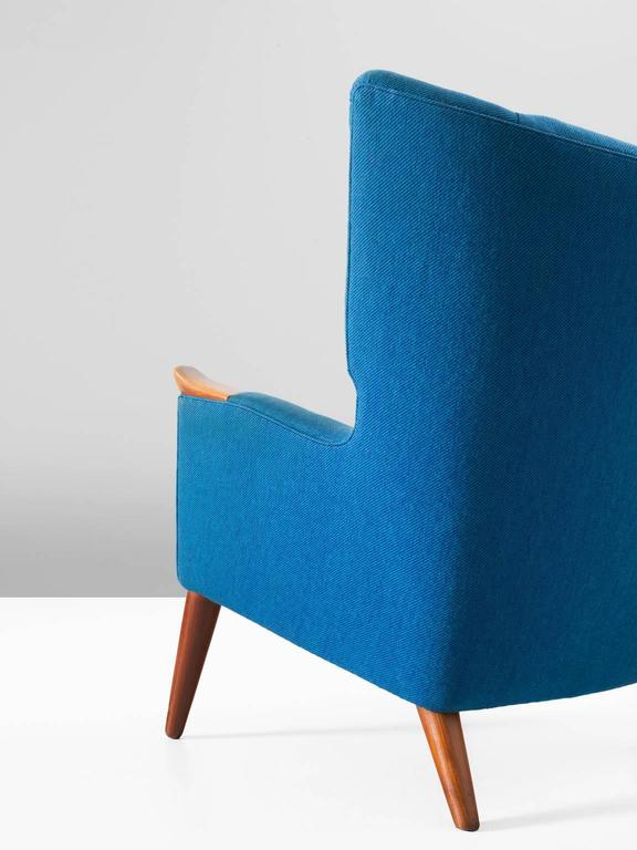 Kurt Ostervig Pair of Blue Lounge Chairs In Good Condition For Sale In Waalwijk, NL
