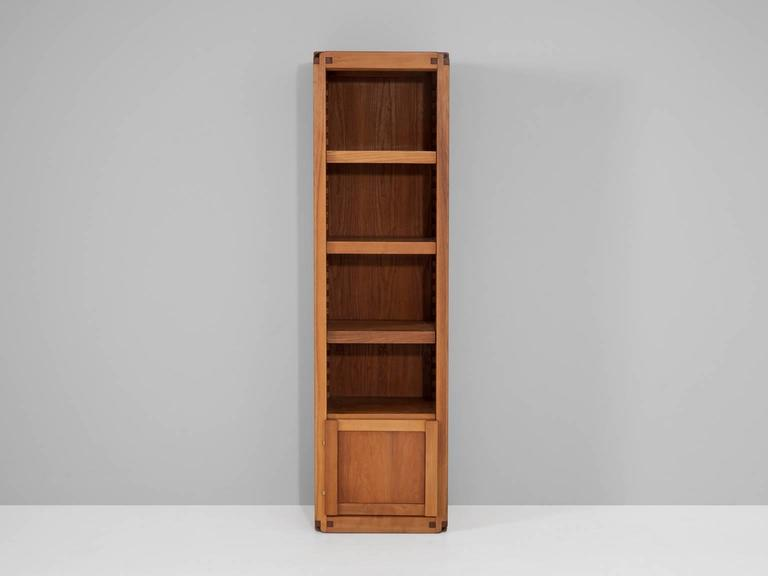 French Pierre Chapo Bookcase in Solid Elm For Sale