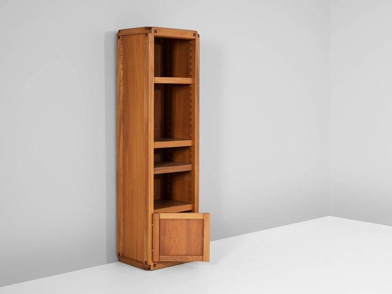 Mid-Century Modern Pierre Chapo Bookcase in Solid Elm For Sale