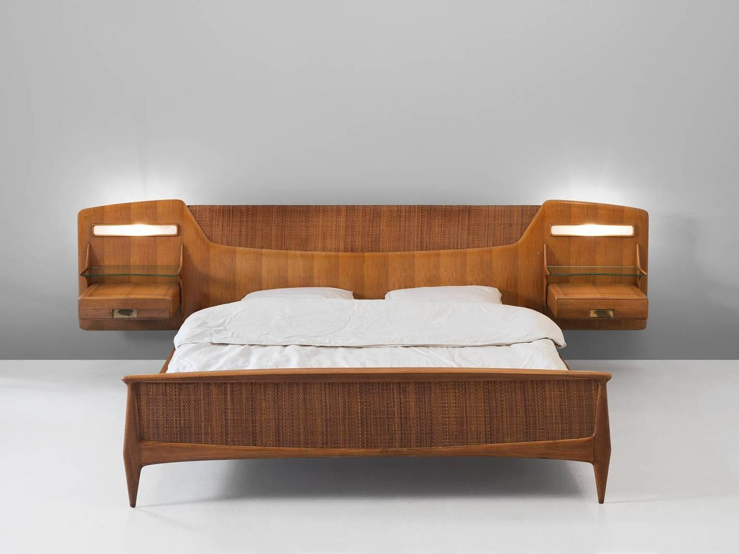 Mid Century Illuminated Double Bed For Sale At 1stdibs