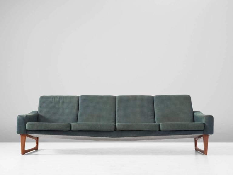 Mid-Century Modern Scandinavian Four-Seat Sofa For Sale
