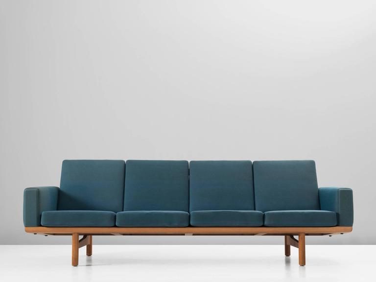 Sofa Ge236 4 In Oak And Fabric By Hans Wegner For Getama