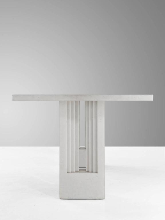 Carlo Scarpa & Marcel Breuer 'Delfi' Table in Marble  In Excellent Condition For Sale In Waalwijk, NL