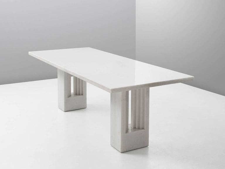 Dining table'Delfi', in marble, by Carlo Scarpa and Marcel Breuer. Italy 1970. 