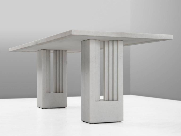 Carlo Scarpa & Marcel Breuer 'Delfi' Table in Marble  4
