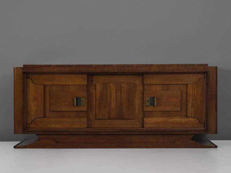 Credenza Dark Brown : Charles dudouyt credenza in dark stained oak for sale at 1stdibs