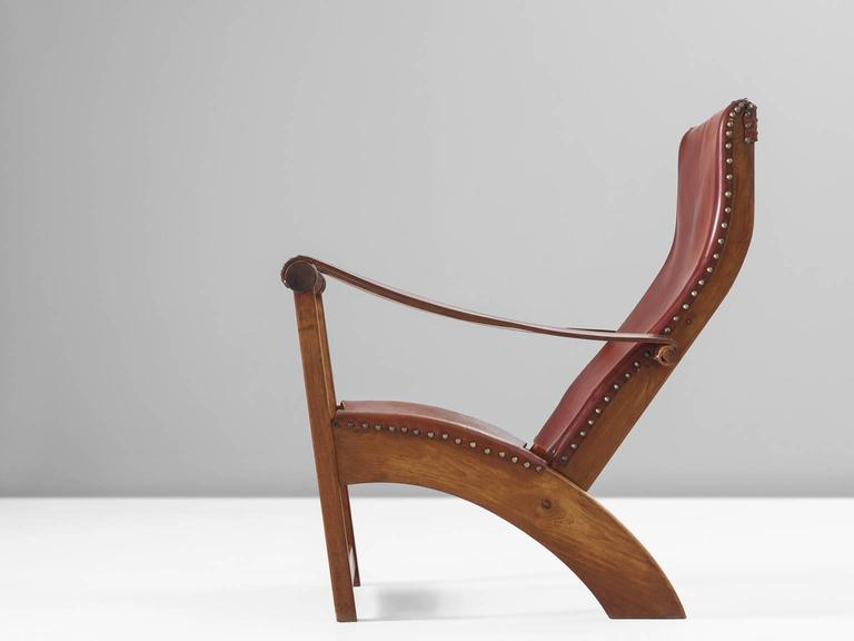 Mogens Voltelen Copenhagen Chair in Mahogany and Original Cognac Leather 3