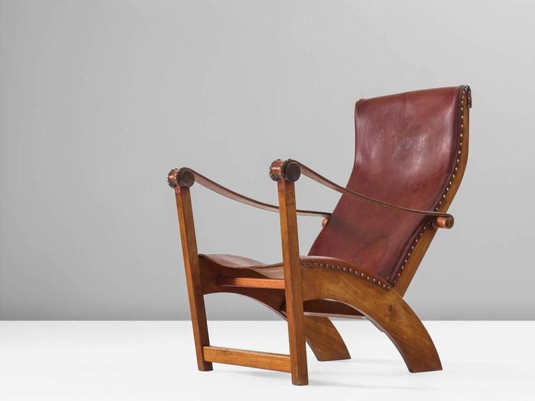 Mogens Voltelen Copenhagen Chair in Mahogany and Original Cognac Leather 2