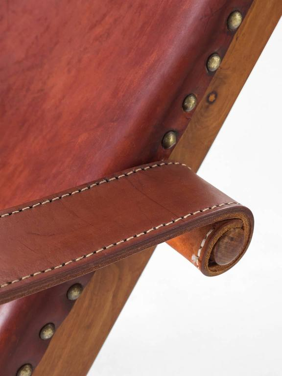 Mogens Voltelen Copenhagen Chair in Mahogany and Original Cognac Leather 6