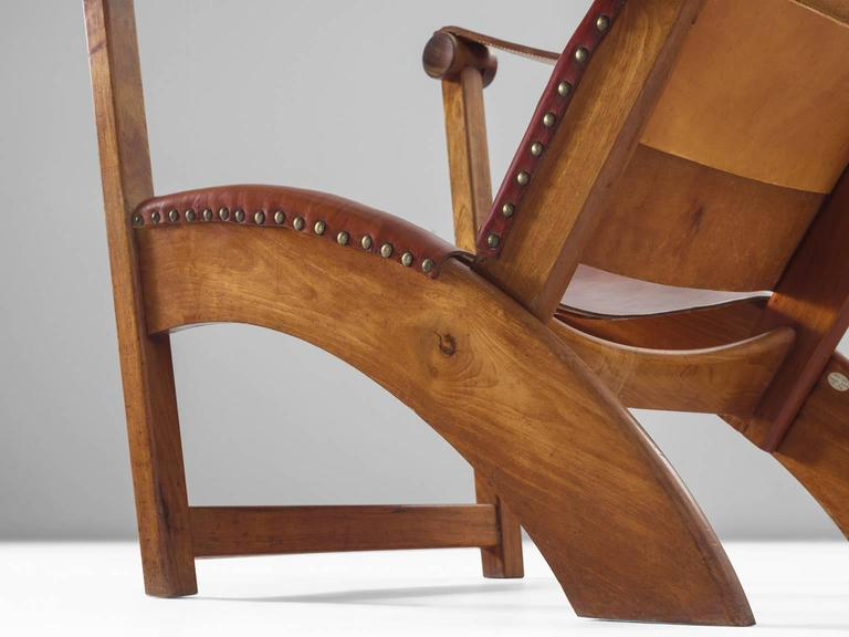 Mogens Voltelen Copenhagen Chair in Mahogany and Original Cognac Leather 7