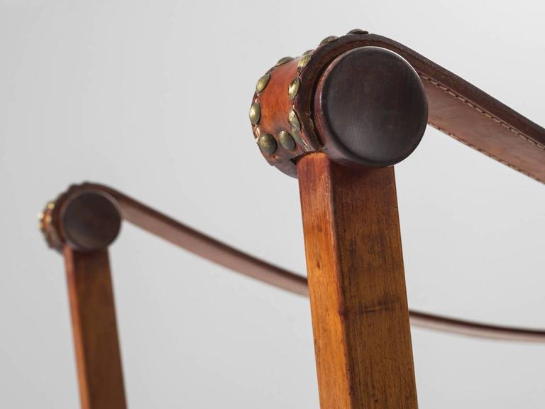 Mogens Voltelen Copenhagen Chair in Mahogany and Original Cognac Leather 8