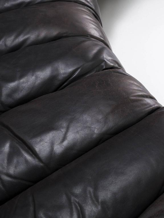 De Sede Ds 600 Non Stop 24 Section Sofa in Dark Brown Leather 1