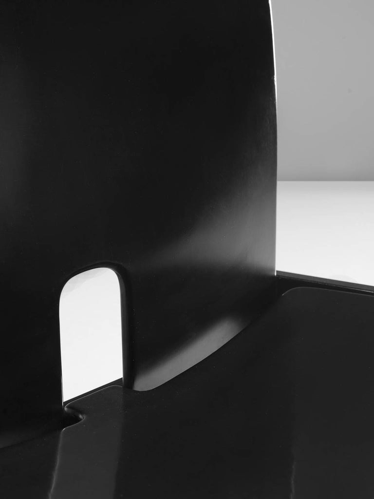 Afra and Tobia Scarpa Chairs in Black for Cassina 7