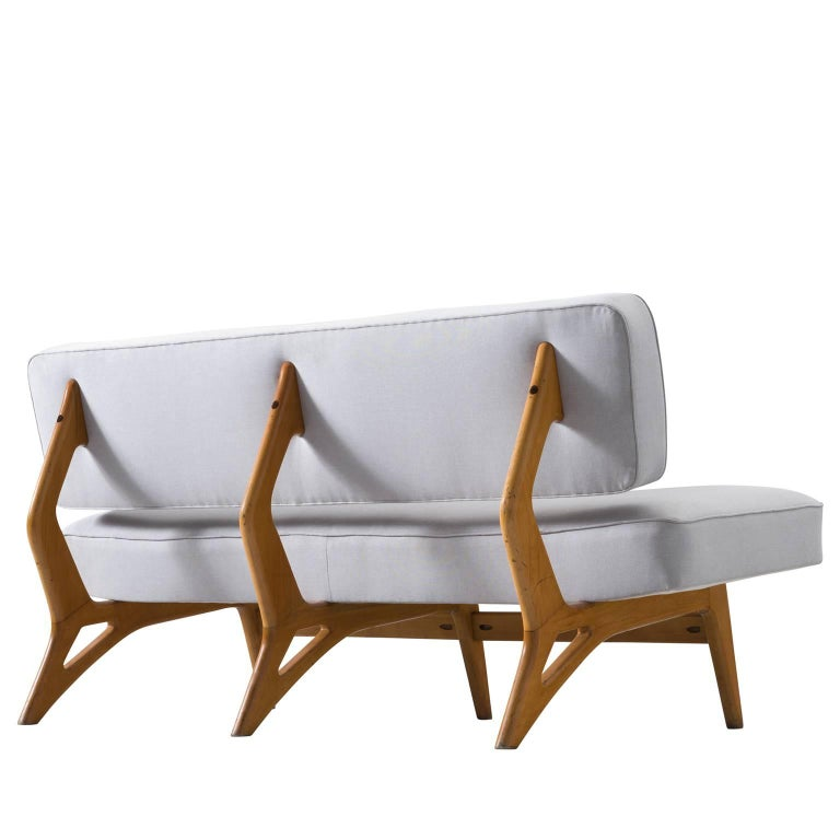 Brazilian Maple Settee by Móveis Cimo, 1950s 1