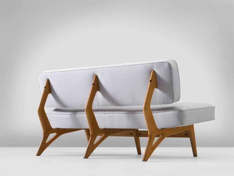 Brazilian Maple Settee by Móveis Cimo, 1950s 3