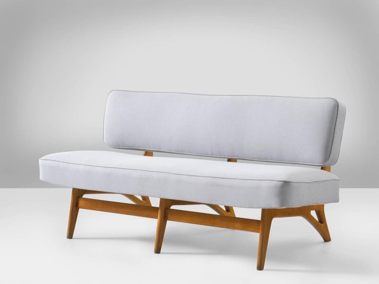 Brazilian Maple Settee by Móveis Cimo, 1950s 4