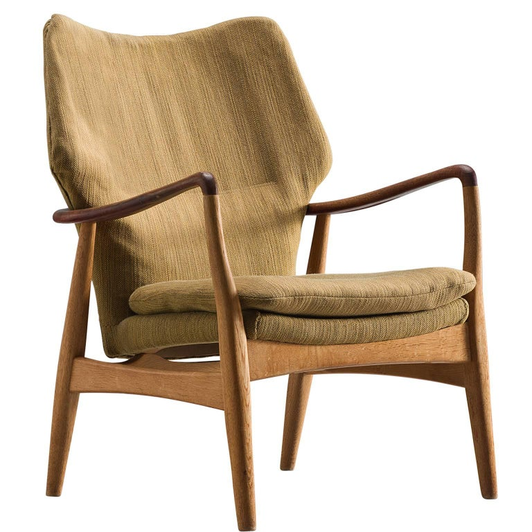 Aksel Bender Madsen for Bovenkamp Oak and Teaklounge Chair