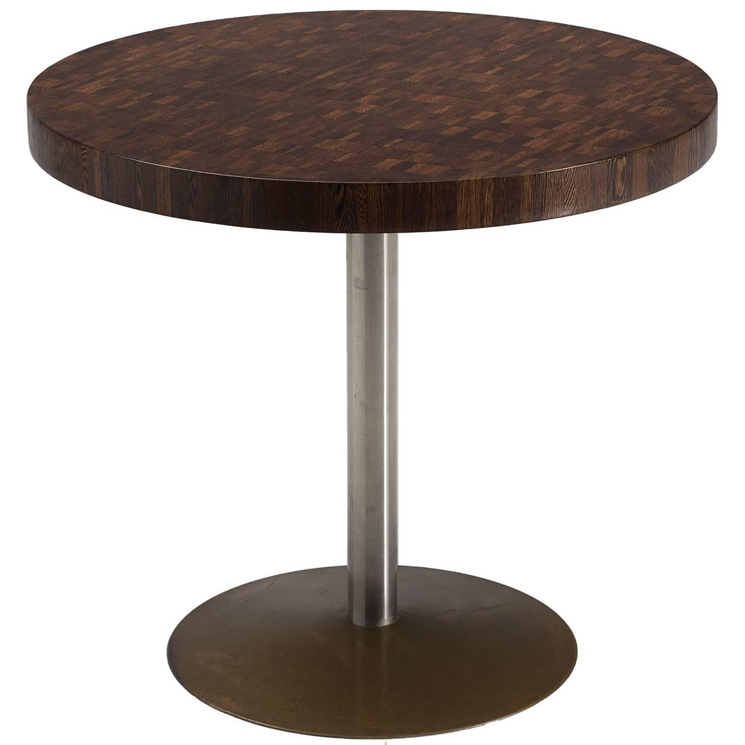 Jules Wabbes Exclusive Small Round Table in Wenge For Sale at 1stdibs